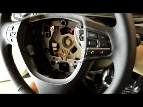 BMW F10 steering wheel & airbag removal 5 series