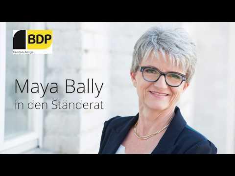 Maya Bally - unsere Frau für den Ständerat