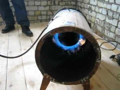 Самодельная газовая тепловые пушка