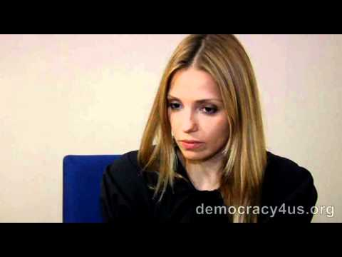Daughter of Imprisoned Former Prime Minister of Ukraine, Yulia Tymoshenko, With Democracy4us.org