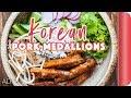 Korean Pork Medallions Rice Bowl Recipe