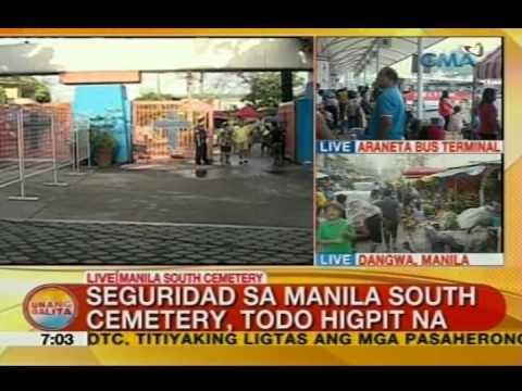 UB: Seguridad sa Manila South Cemetery, hinigpitan na