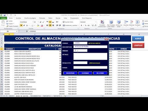 Control de almacen en Excel - Control de Stock Excel - Valuación Metodo promedio