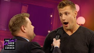 James Corden Pressures Gronk to Make NFL Return