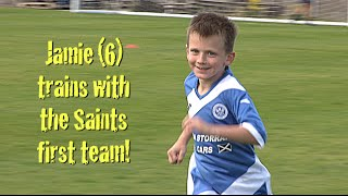 6-year-old Jamie trains with St. Johnstone first team