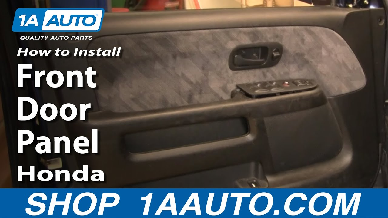 How To Install Replace Front Door Panel Honda Cr V 02 06