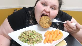 MUKBANG LENTILS AND VEGGIE PATTY | YOUTUBE FUTURE