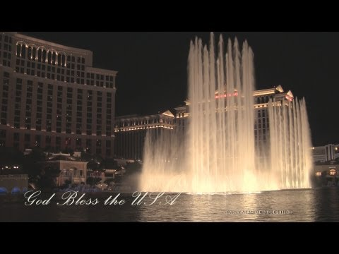 god Bless The Usa | Bellagio Fountains 2013 | Full 1080p Hd video