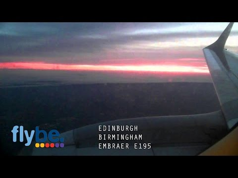 Edinburgh to Birmingham (FlyBe Embraer 195) - Full Flight