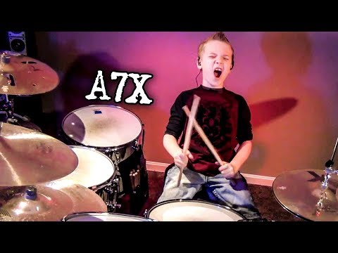 BAT COUNTRY - A7X (8 year old Drummer) Drum Cover by Avery Drummer Molek