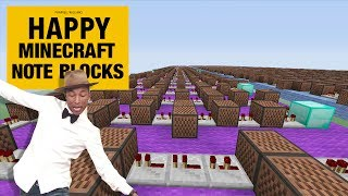 "Pharrell Williams ""Happy"" - Minecraft Xbox ""NoteBlock Song"""