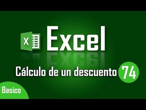 Como calcular un descuento en Excel - Capítulo 74
