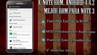 X-Note 8.0 ROM KitKat 4.4.2 - Galaxy Note 3 N9005