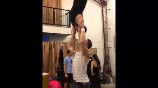 Hands Free Acro Shoulder Balance: Tari and Cheetah