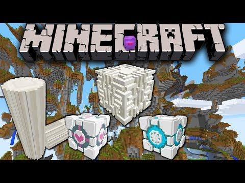 Minecraft 1.8 Snapshot: Farlands Custom Sky World Preset 3D Block Model Quartz Portal Blocks