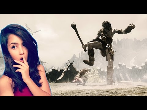 SKYRIM | Rebelle VS Giant (FAIL)