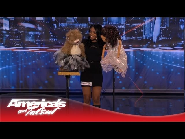 Ventriloquist Megan Piphus Pays Tribute to Whitney Houston - America's Got Talent