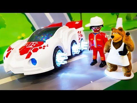 Мультики про машинки. Желейные конфетки в мультике  - Медведь помощник. ЛЕГО мультфильмы для детей