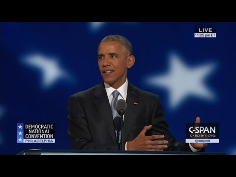 President Obama FULL REMARKS at 2016 Democratic National Convention (C-SPAN)