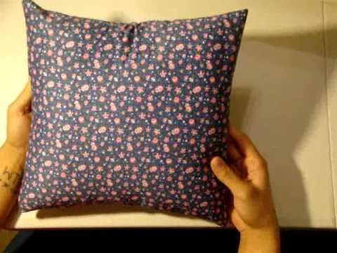 Throw Pillow Cover Instructions : How to Make an Envelope Pillow Cover - YouTube