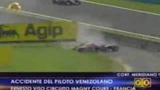Ernesto Viso sufre grave accidente en GP2