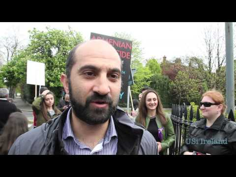 Armenians in Ireland mark 100th anniversary of the Armenian Genocide by Turkey in Dublin 24th April