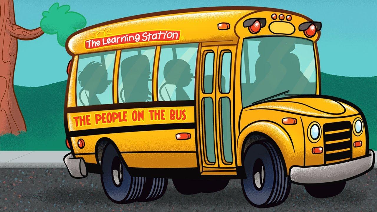 Wheels On The Bus Go Round And Round Popular Children S