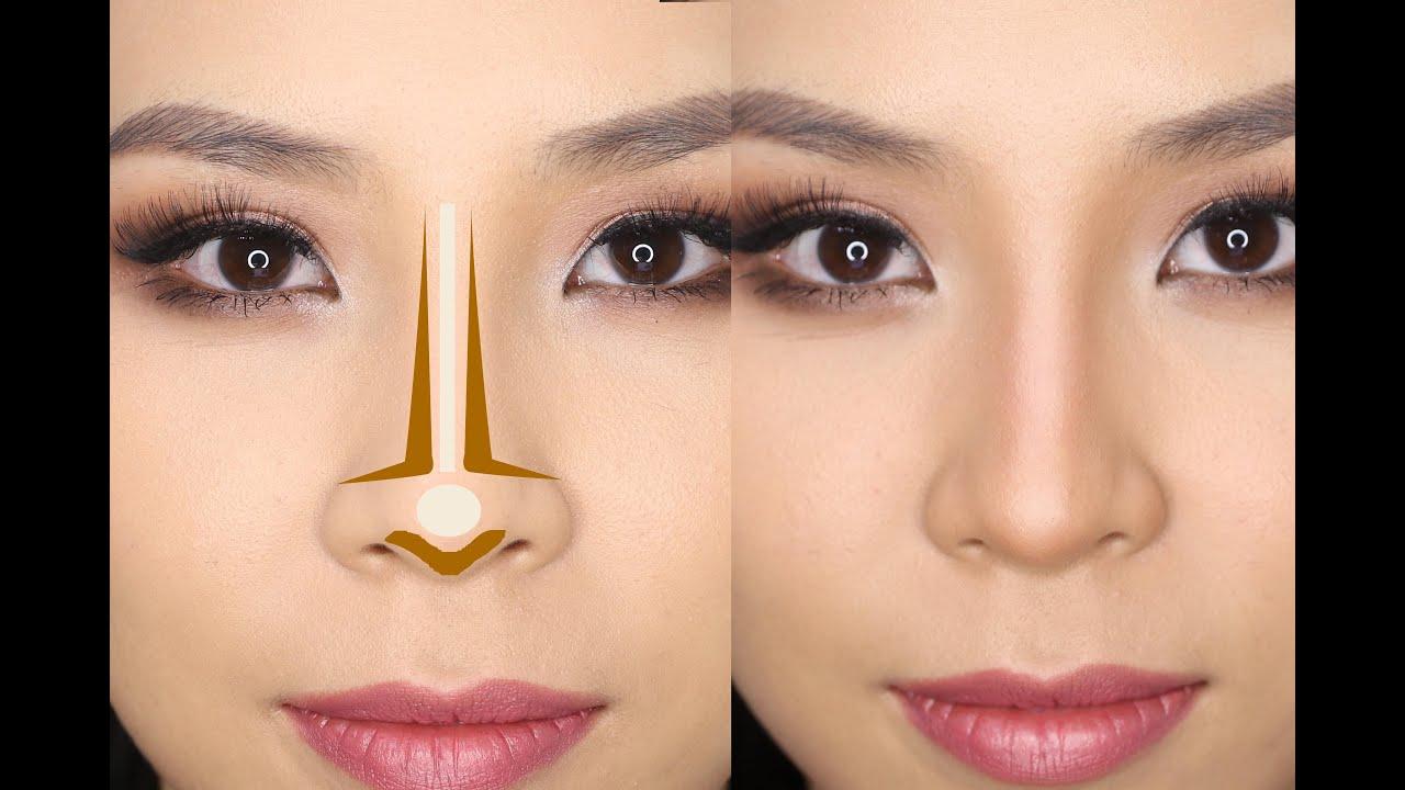 Прическа чтобы уменьшить нос