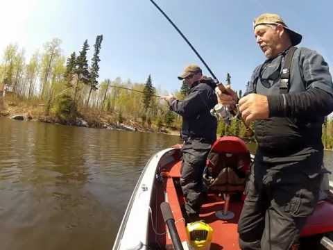 Fishing Black Bear Lodge Red Lake Ontario Canada May 2012