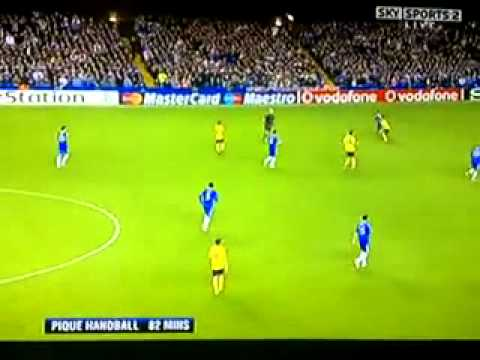 Uefa Champions League Chelsea Vs Barcelona Stamford Bridge May 6th 2009 A Disgrace For Football.flv video
