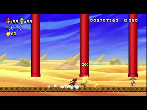 New Super Mario Bros. U 100% Multiplayer Walkthrough - Part 27
