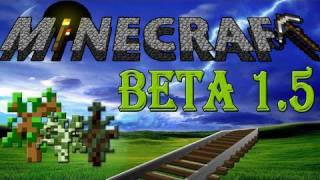 "Minecraft: Beta 1.5 Tutorial ""Powered Rail's, weather and more!"" with CapturedHD and splitz!"