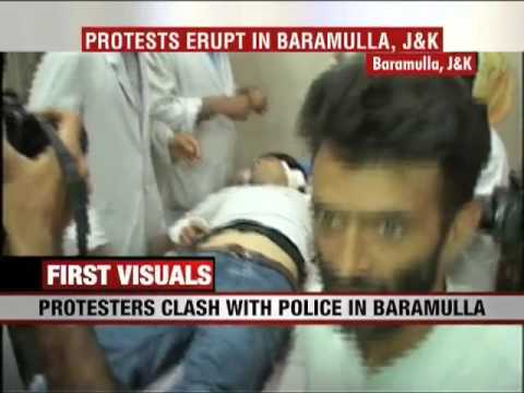 Clashes erupt in Baramullah