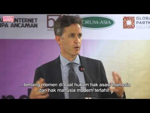 Prof David Kaye (UN Special Rapporteur): Soverignty, Privacy, Online Freedom of Expression