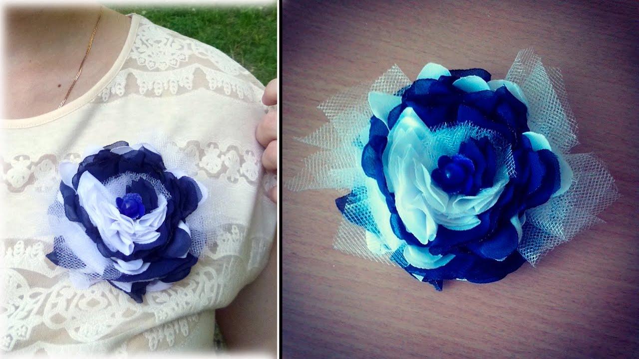 Цветы На Платье Из Ткани Купить