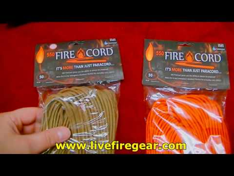 Firecord Review Paracord Tested Livefire Gear Best Survival 550 Cordage Mods Ideas bracelet new