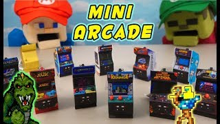 Puppet Steve Plays Mini Video Game Arcade Cabinets?? RAMPAGE & Midway keychain Collection Unboxing!