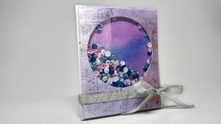 Mini-album for the photo - Instabox - Postcard-Shaker - Scrapbooking workshop