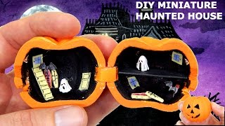Miniature Haunted House Tutorial DIY Dolls Dollhouse