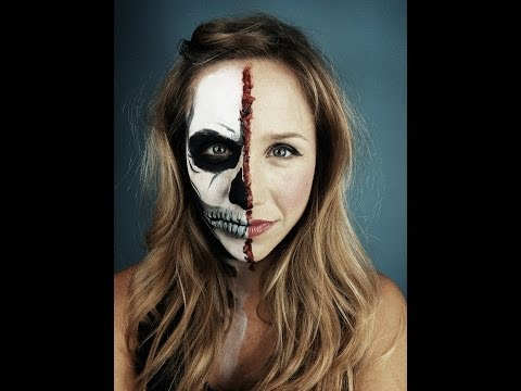 Half face halloween