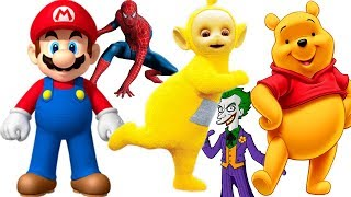 Finger Family Song Compilation I Spiderman I Super Mario I Teletubbies I Winnie The Pooh I Elsa Anna