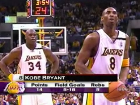 Shaquille O'Neal & Kobe Bryant Highlights vs Minnesota Timberwolves 2003 WCR1 GM4