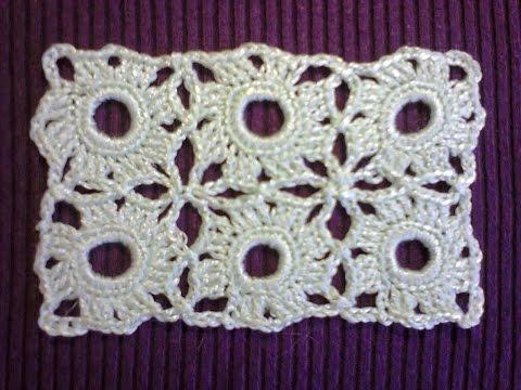 Красивый маленький мотив крючком.  Beautiful little crochet motif