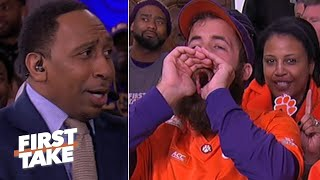 Stephen A. gets booed for his LSU vs. Clemson CFP National Championship prediction | First Take