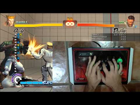 SSF4 AE - Guile Tutorial - SonicBoom Charge