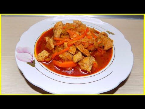 Рецепт вкусного мяса с овощами//Это очень вкусно!!!