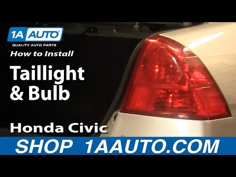 How To Install Replace Taillight and Bulb Honda Civic 01-05 1AAuto.com