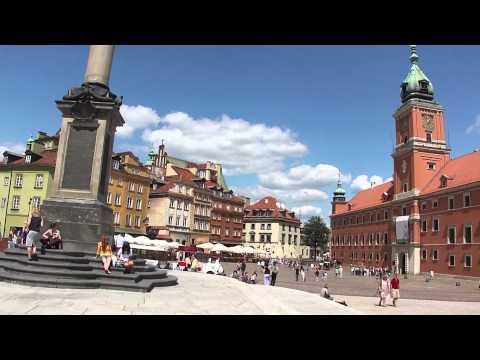 Plac Zamkowy W Warszawie HD -- Kolumna Zygmunta - Zamek Królewski