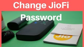 How To Change JioFi Password (Hindi)