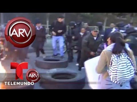 VIDEO: POLICÍA EN BOLIVIA TERMINA QUEMADO